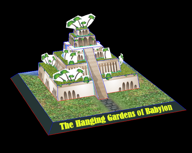 Seven Wonders Of The Ancient World The Hanging Gardens Of Babylon Papercraft Papercraft
