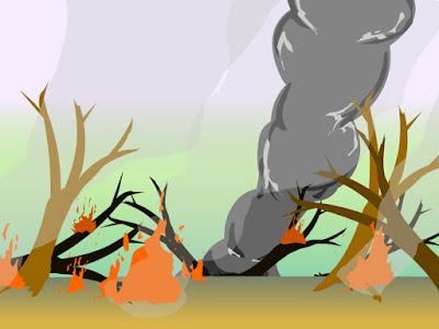 Animasi Kebakaran Hutan