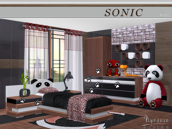 My sims 4 blog nynaevedesign 39 s sonic kids bedroom set tsr for Bedroom designs sims 4