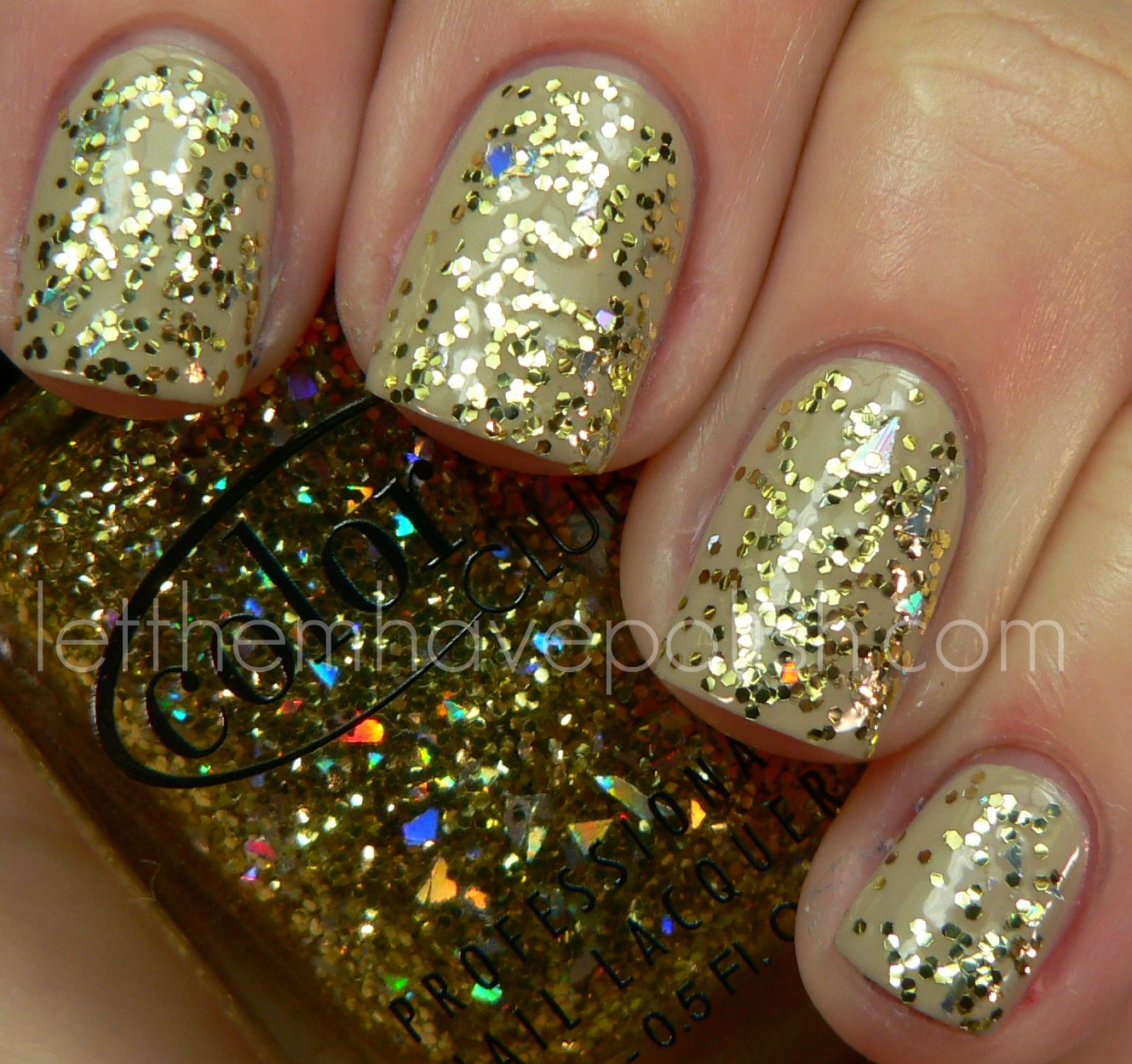 Who Sells Color Club Nail Polish: ★color Club★ Take The Stage Gold Glitter Shimmer Holo