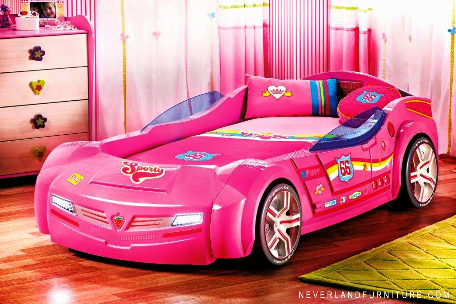 Uncategorized Pink Racing Car Bed car beds home interior design little tikes lightning mcqueen race twin bed