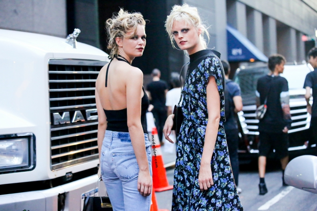 Anna Ewers and Hanne Gaby after Marc Jacobs, New York, September 2015