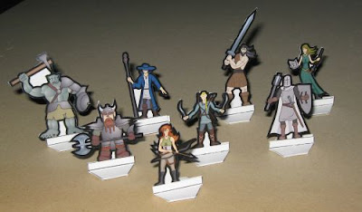 Cardstock Minis for Classic RPG Games