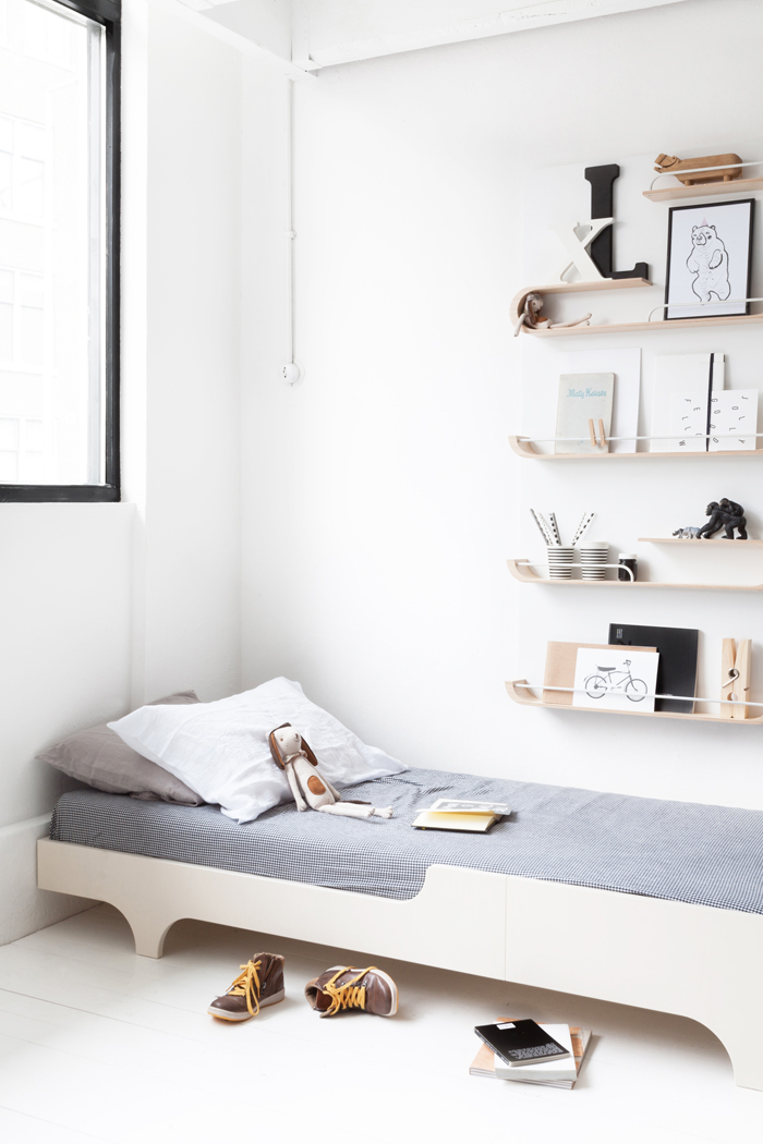 A teen bed and XL shelf from Rafa-kids collection