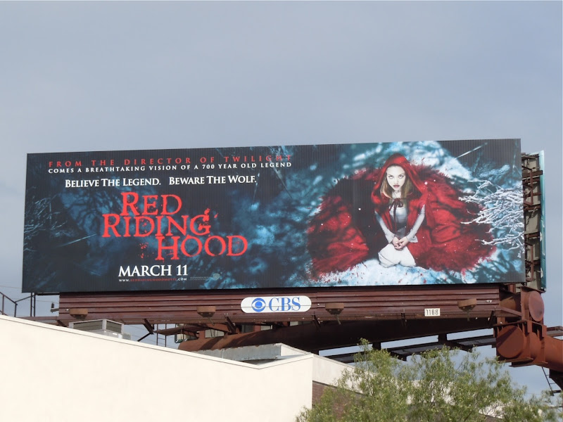 Red Riding Hood film billboard