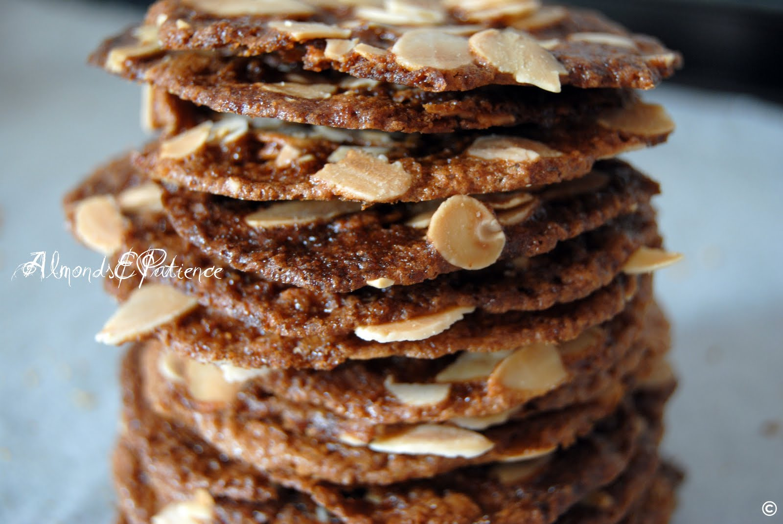 Wafer di mandorle - Almond wafers | Almonds&Patience