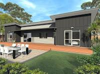 modelo de casa rectangular alargada