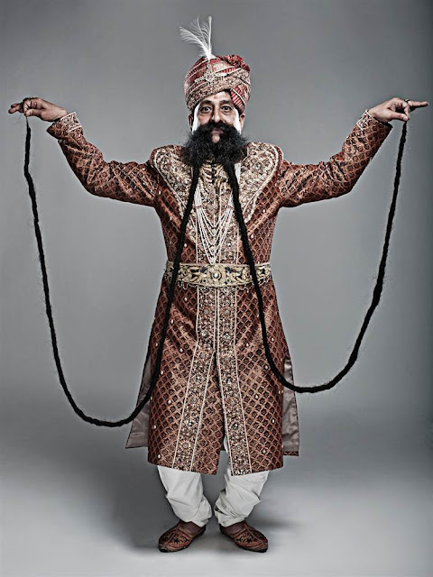 Ram Singh Chauhan picture, World's Longest Moustache photo, indian longest Beard pics, Ram Singh Chauhan images, amazing facial hair, longest moustache picture, longest beard images, Longest Moustache Guinness World Records, picture of Ram his amazing facial hair