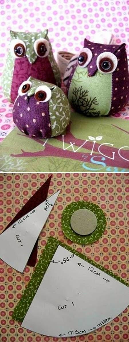 Come fare un gufo di stoffa imbottito tutorial semplice for Tutorial fermaporta di stoffa
