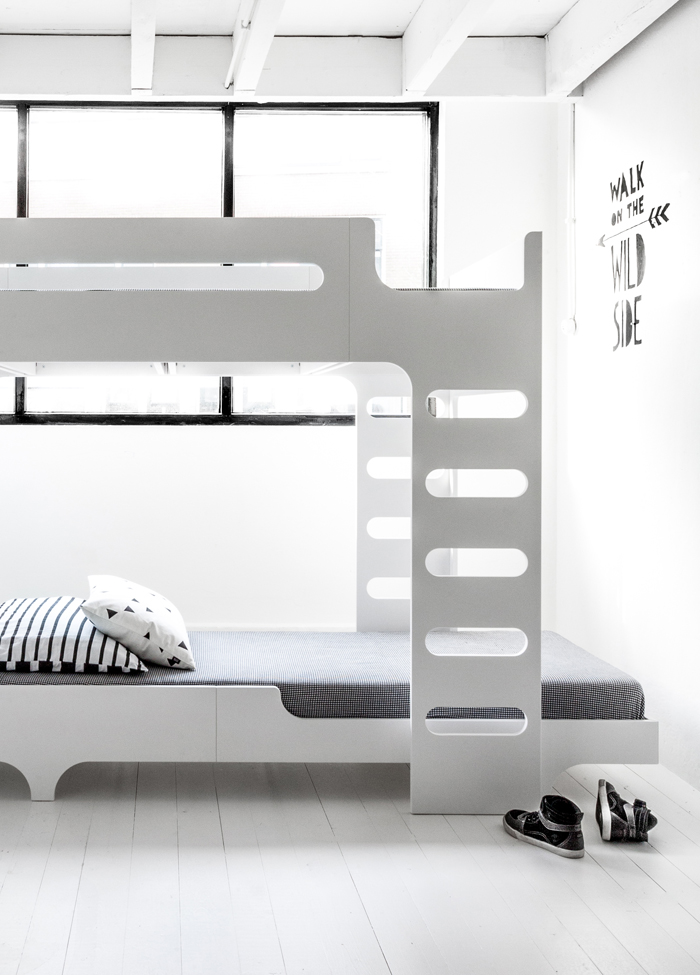 design beds for two children in white at Rafa-kids