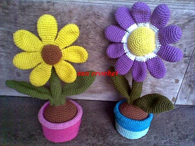 Flower in the Pot ~ Zan Crochet