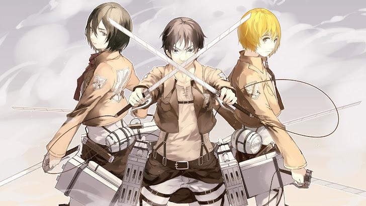 Attack on Titan Mikasa Eren Armin