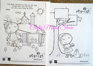 Crafty moms share dvd reviews caillou helps out peg for Peg cat coloring pages