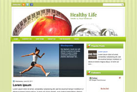 Healthy Life Blogger Template