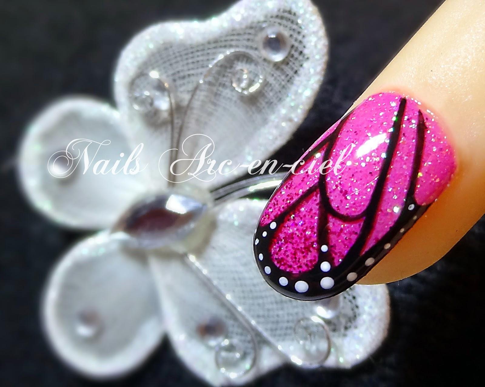 nail art aile de papillon