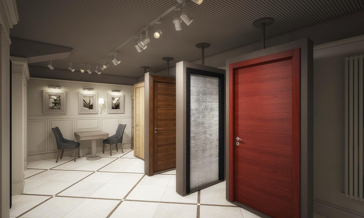 салон выставка металлических дверей