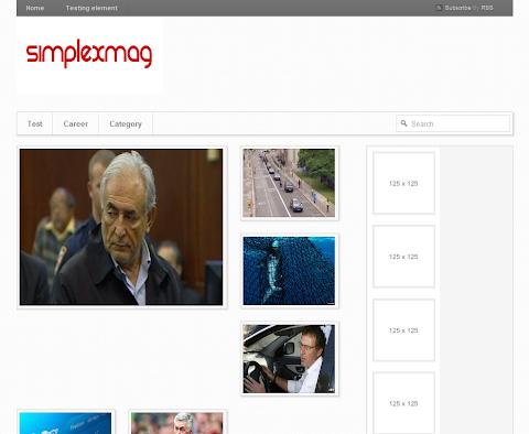 SimplexMag Blogger Theme