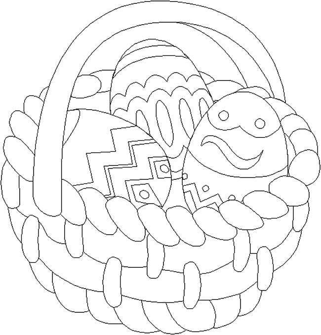 Easter Egg Basket Coloring Pages
