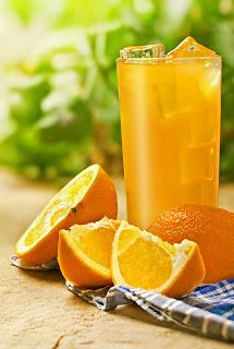 Fresh squeezed orange juice.