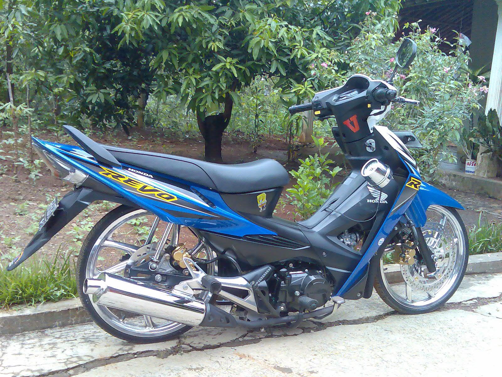 foto, gambar modifikasi motor revo fit 2012 terbaru - sukaon