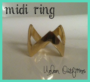 Chevron Midi Ring Urban Outfitters