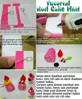 Tutorial : membuat Roll Felt Cake Sederhana