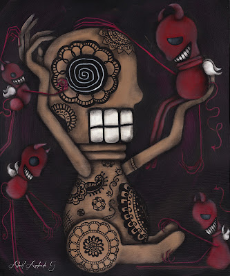 """My Conscience"" 20x30"" 2012 by Abril Andrade Griffith"