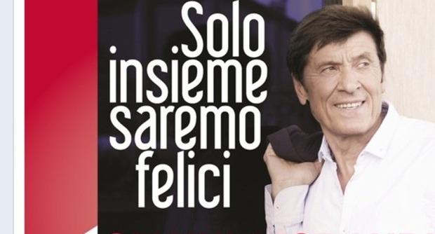 Gianni Morandi - Solo Insieme Saremo Felici - copertina testo video download