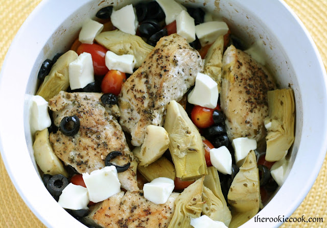 Mediterranean Chicken Bake ~ The Rookie Cook