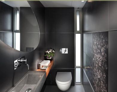 Baños Modernos: Decoración de baño de visitas
