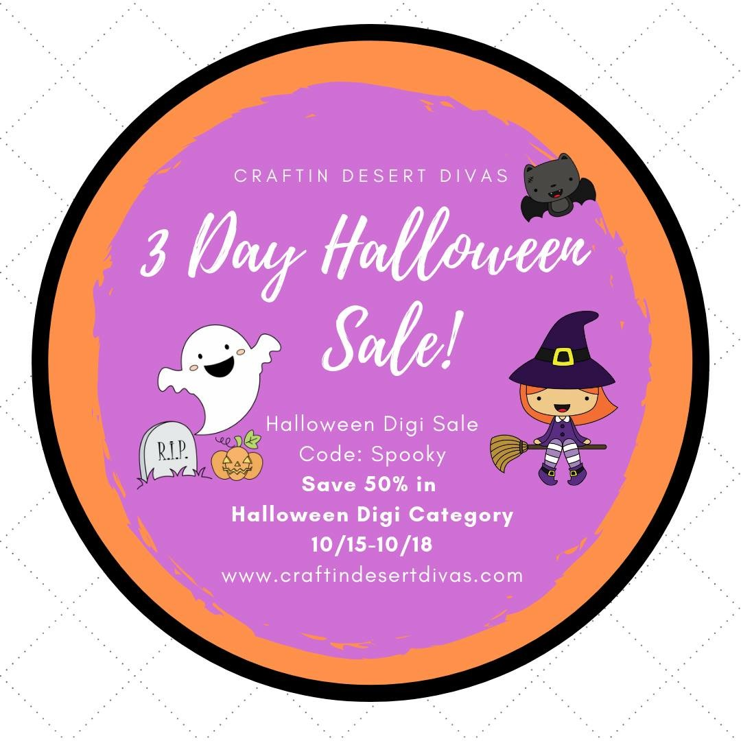 ♥ Halloween Digital Sale at Craftin Desert Divas ♥
