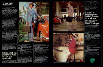 propaganda Ternos Santista - 1973.  Moda anos 70; propaganda anos 70; história da década de 70; reclames anos 70; brazil in the 70s; Oswaldo Hernandez