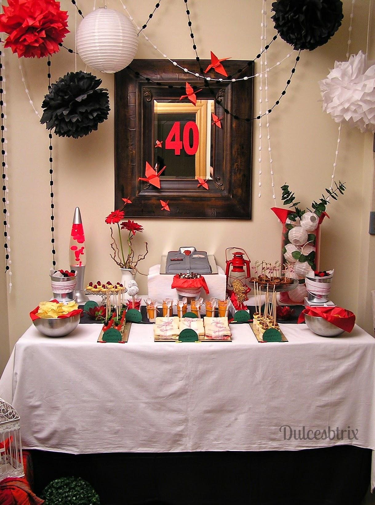 Dulces btrix mesa dulce rojo y negro - Mesa cumpleanos adulto ...