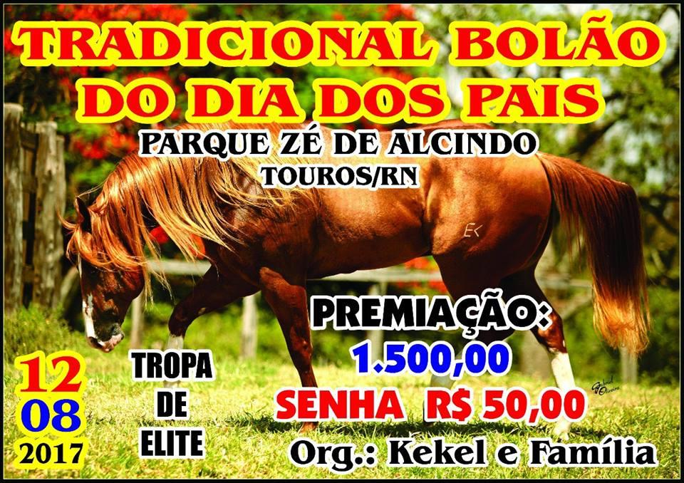 O TRADICIONAL BOLÃO DE VAQUEJADA DOS PAIS