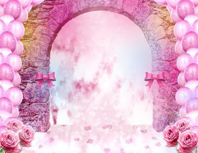 Lindo fondo rosa para quinceañeras