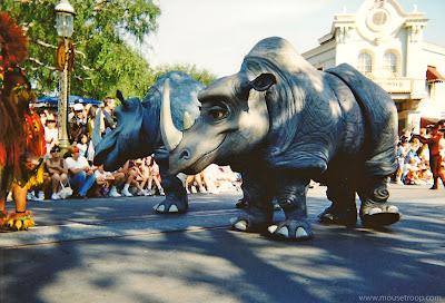 Lion King Celebration Rhinos Disneyland parade