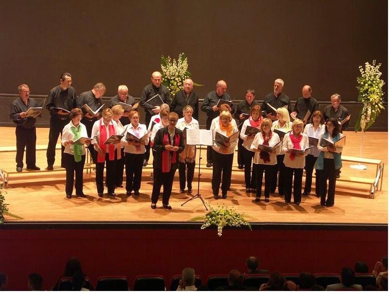 Concierto inaugural fiestas del Carmen 2014 coro rubagon