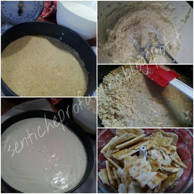 Cheesecake salato con prosciutto e rucola