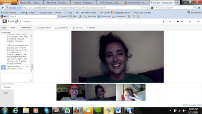 our group using google+ hangout