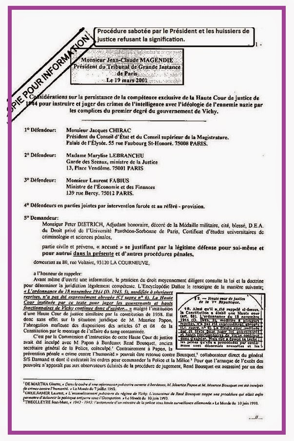 Grande Chambre Cour De Cassation : Assignation de façade de la requête de renvoi des magistrats …