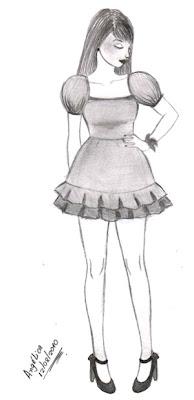 Desenho como desenhar Roupas de princesa     pintar e colorir