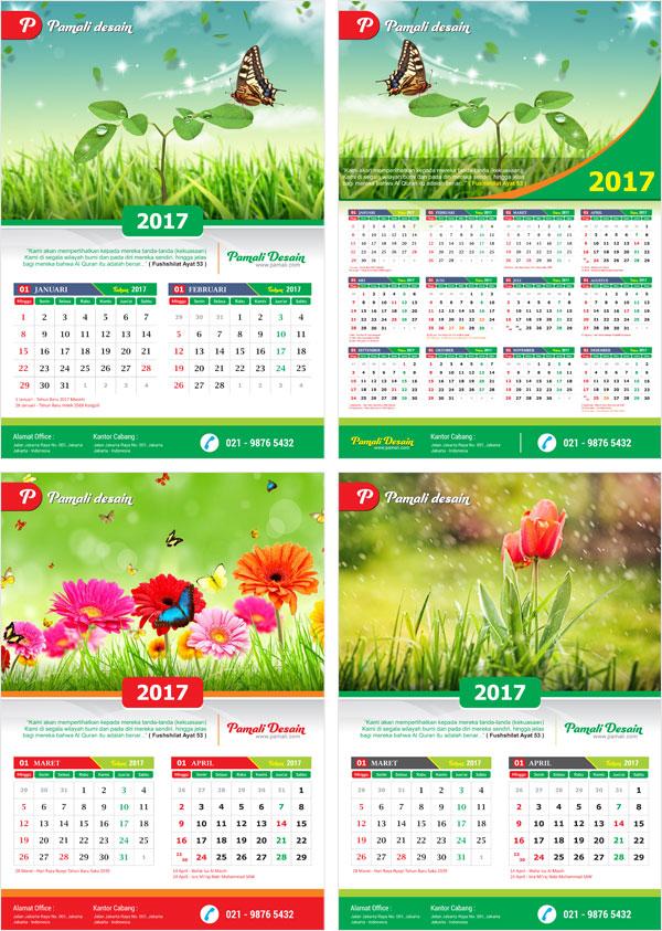 Mulai download saja kalender dinding 2017 Indonesia coreldraw cdr pdf ...