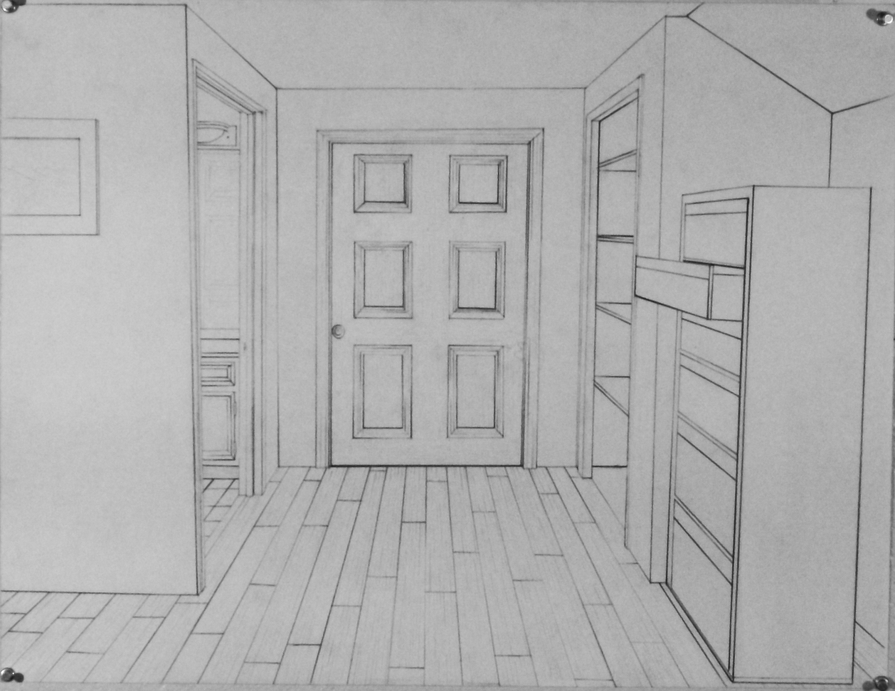 Homework Due 9 10 11 Interior One Point Perspective