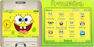 spongebob c3 theme by zayedbaloch Download Tema Nokia C3 Gratis
