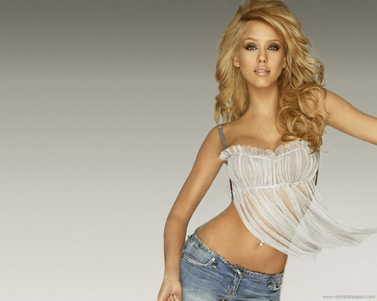 Jessica Alba Beautiful Wallpaper