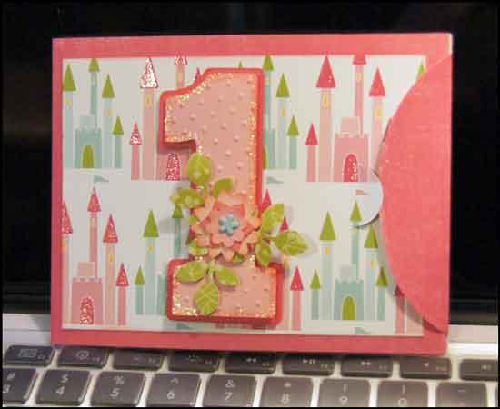 Altered Scrapbooking Aydas First Birthday Card
