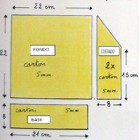 Cuadro de navidad 3d bricolage - Como construir una chimenea paso a paso ...