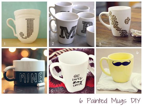 Diy 6 dise os para pintar tazas f cil y sencillo - Como decorar una taza ...