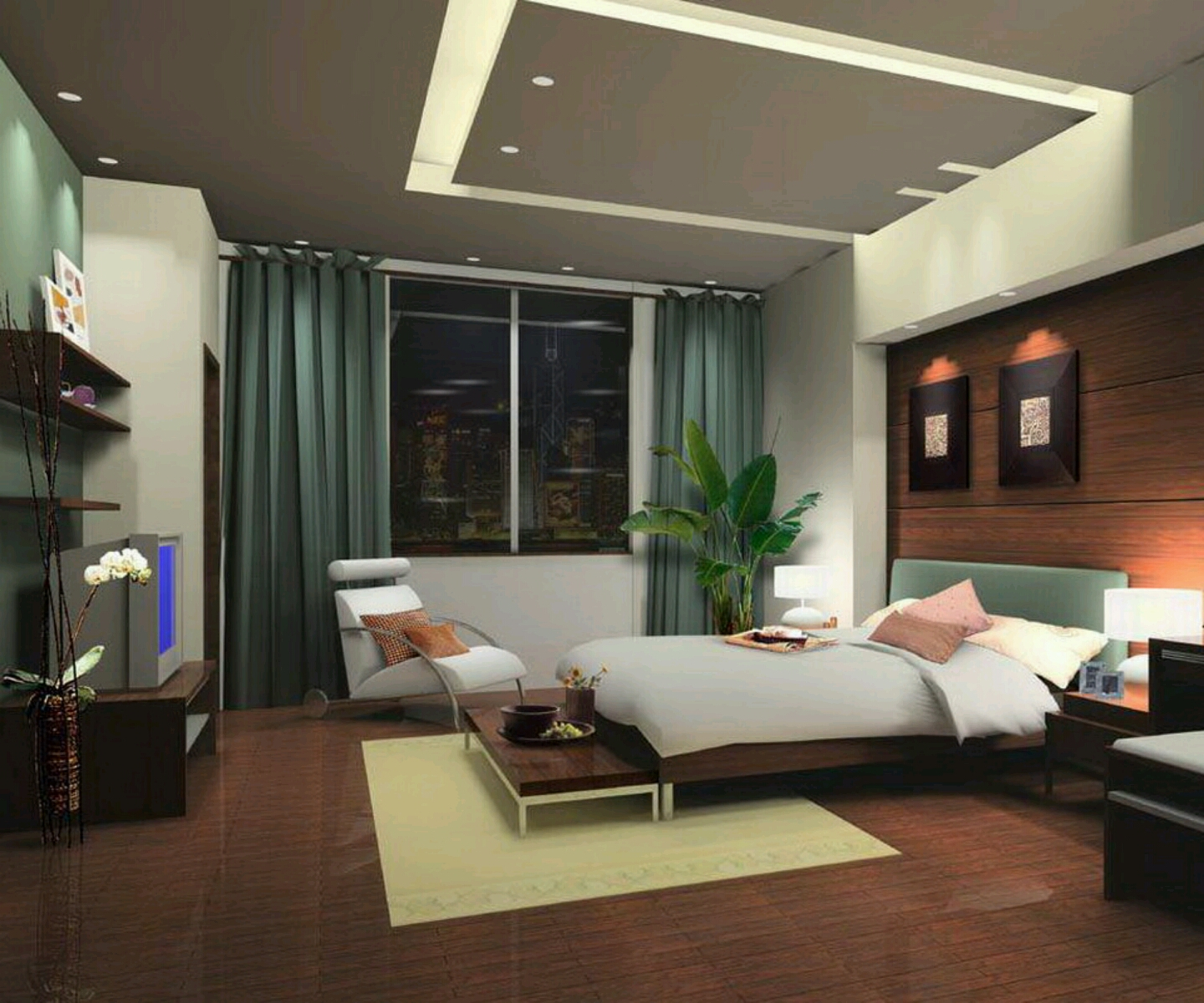 New home designs latest modern bedrooms designs best ideas for Four bedroom design