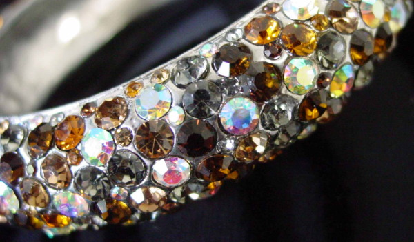 topaz rhinestone bangle